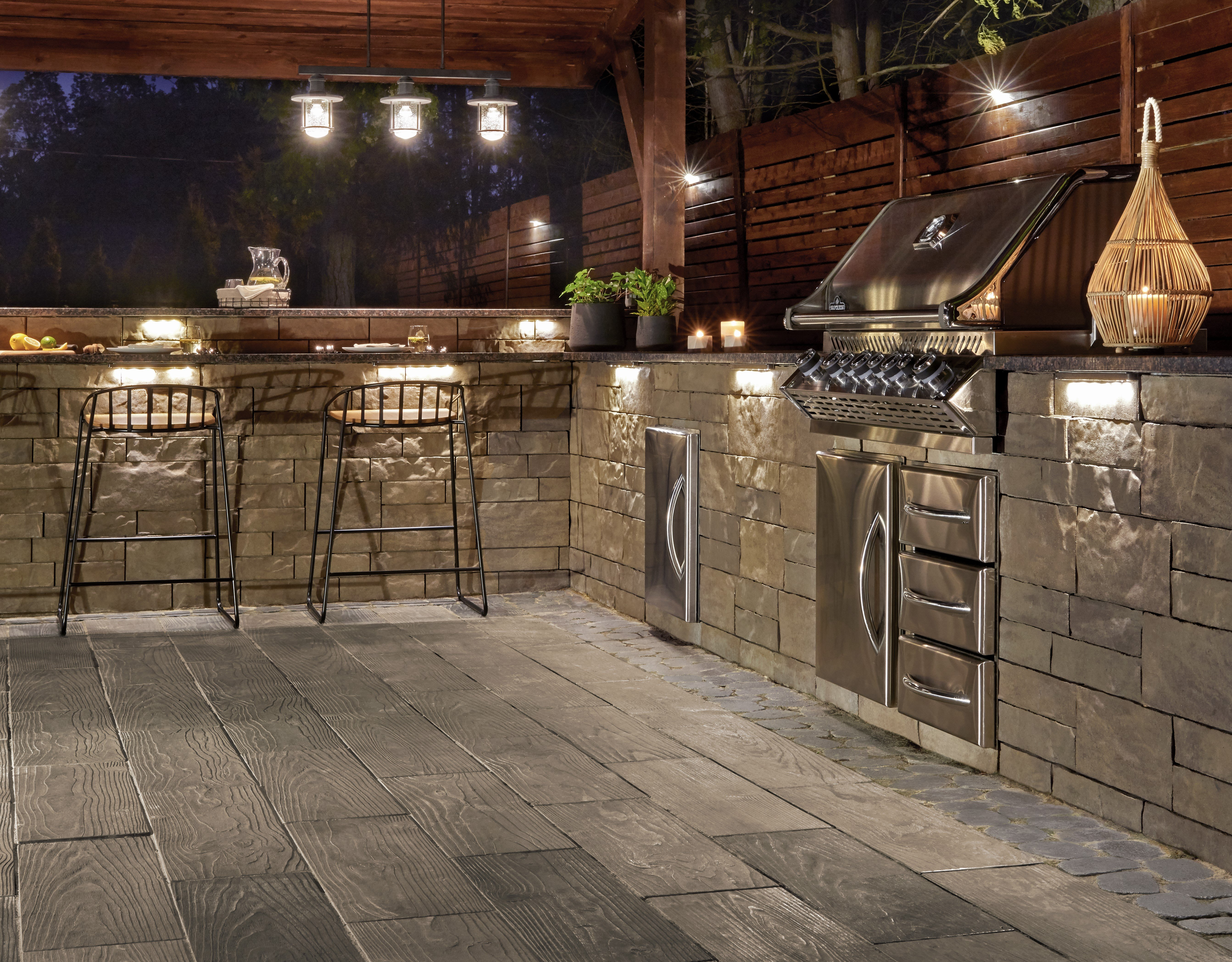 Our Brandon backyard outdoor kitchen