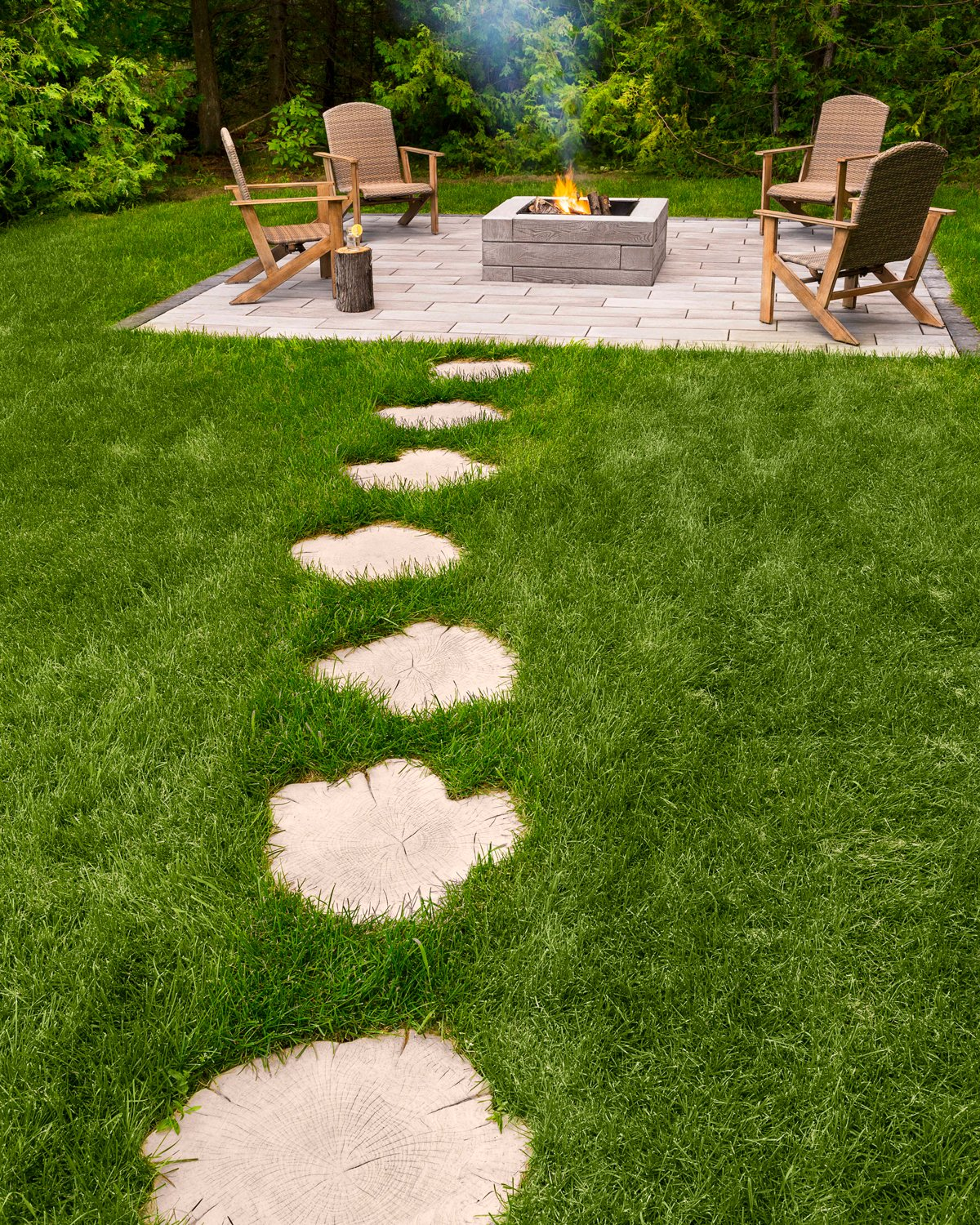 Our wood look-alike concrete stepping stones