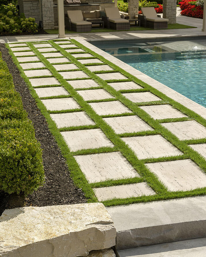 Our Travertine inspired Travertina Raw patio slab