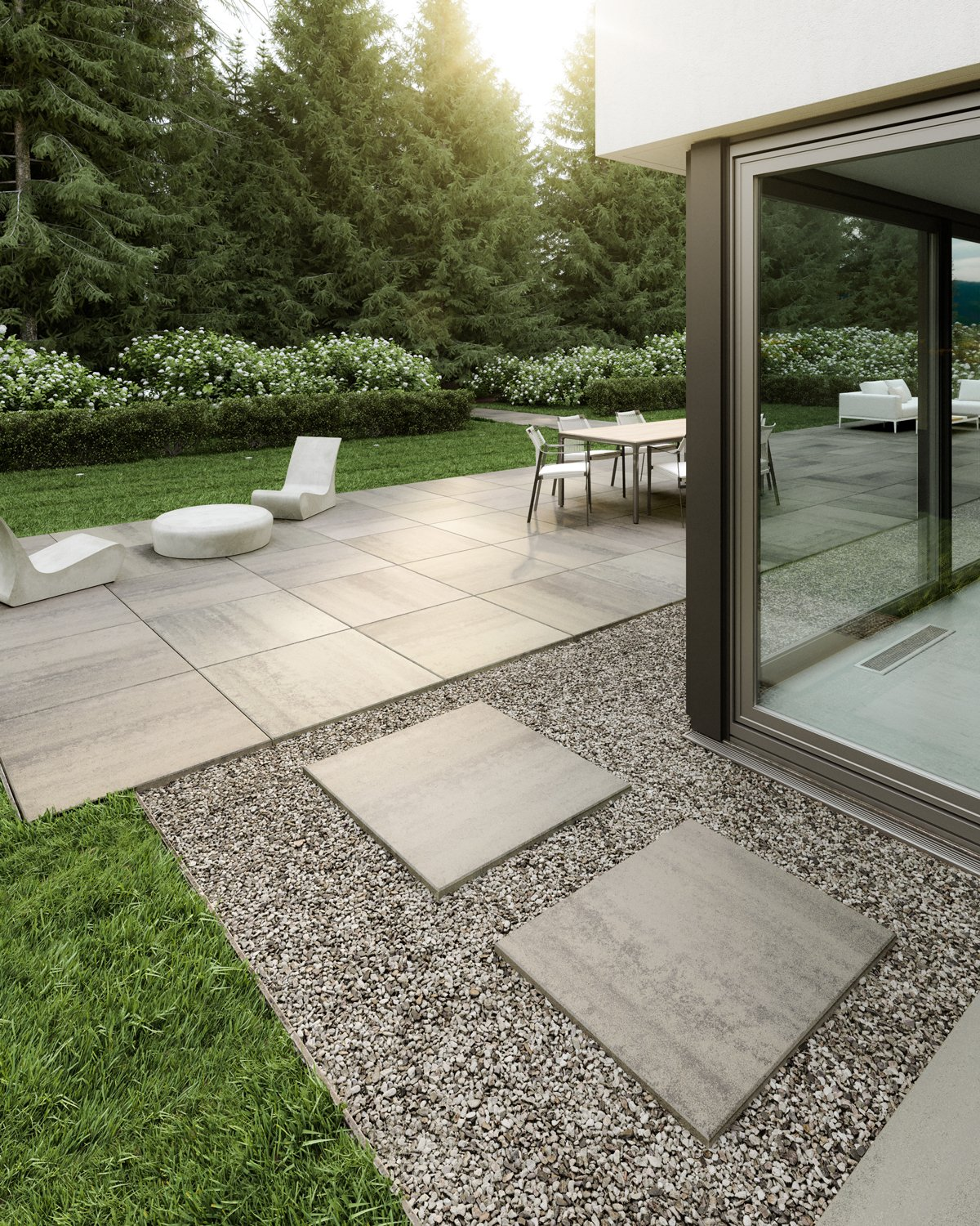 Patio with Industria Oversized Units