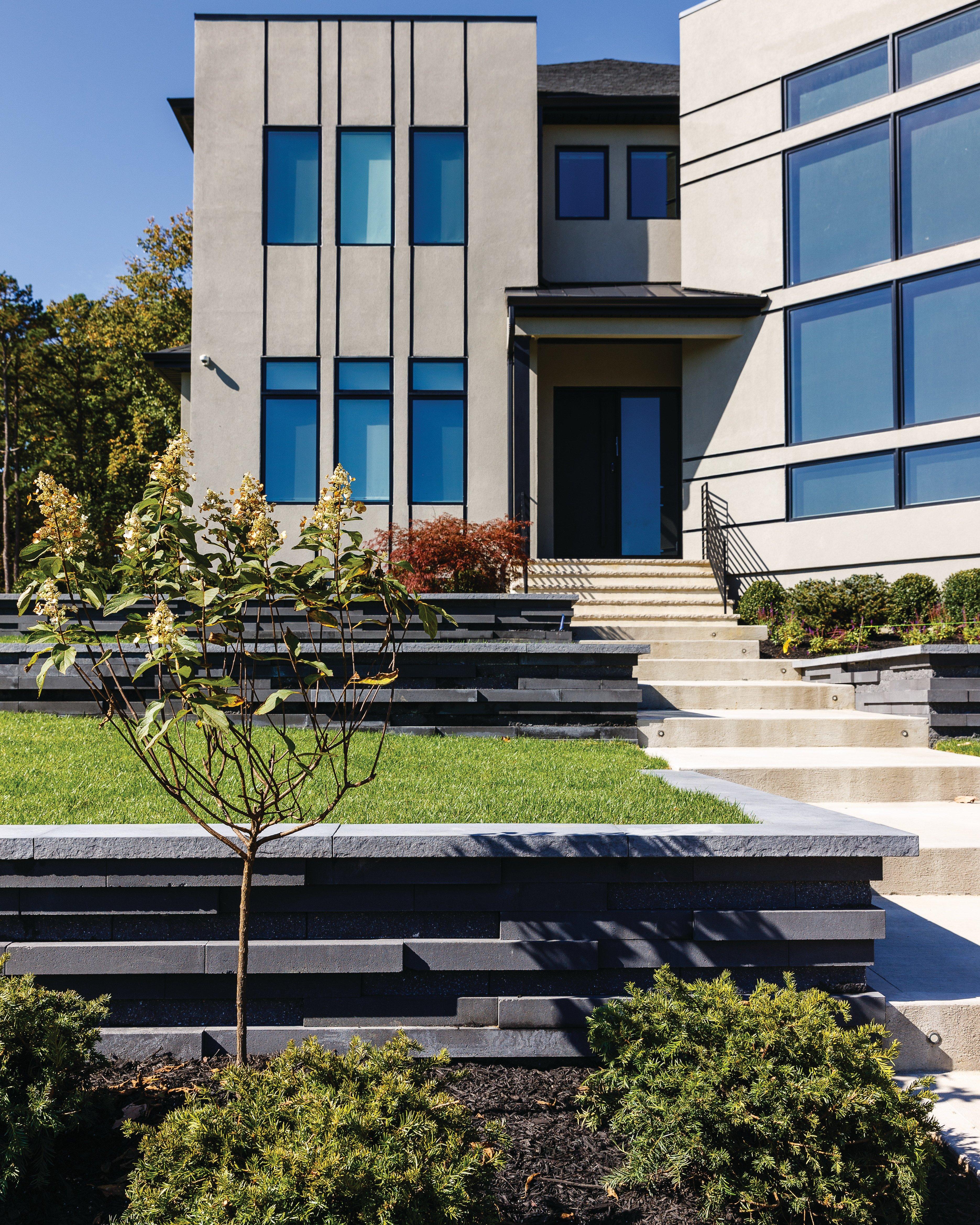 Front-yard-Graphix-retaining-walls
