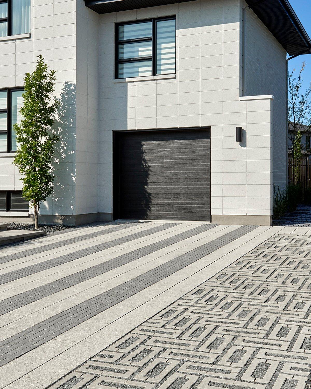 Our permeable paver Aquastorm in a driveway design