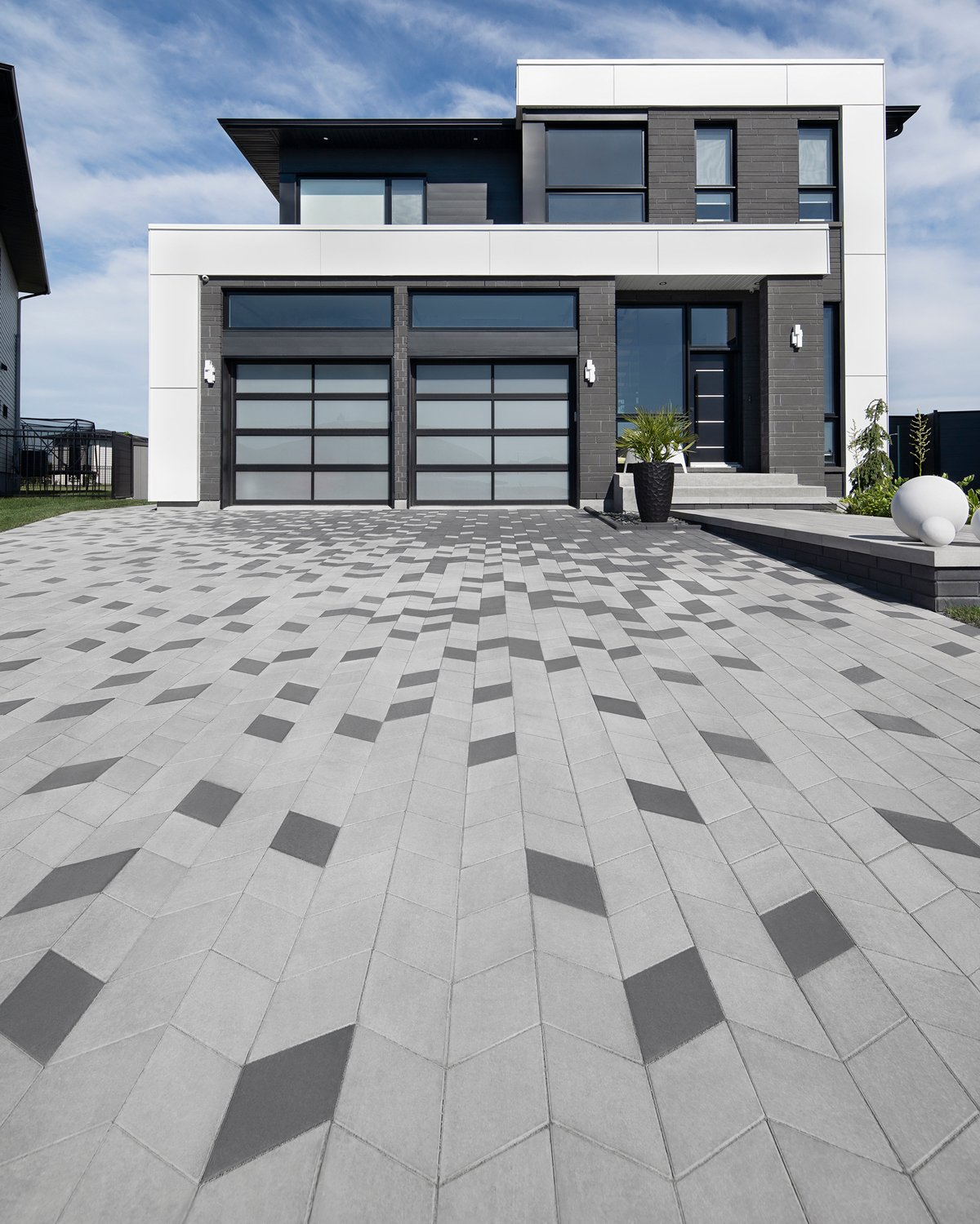 Our Diamond Smooth paver in a driveway application
