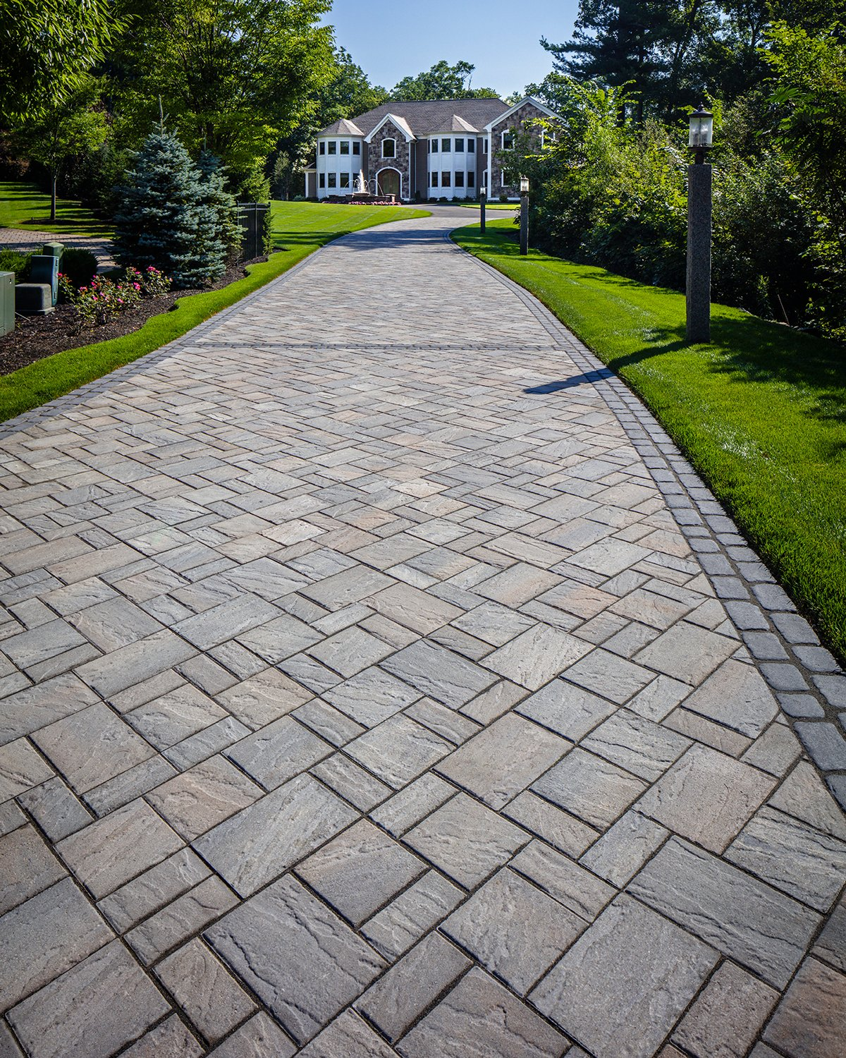 Our Eva paver in a driveway application