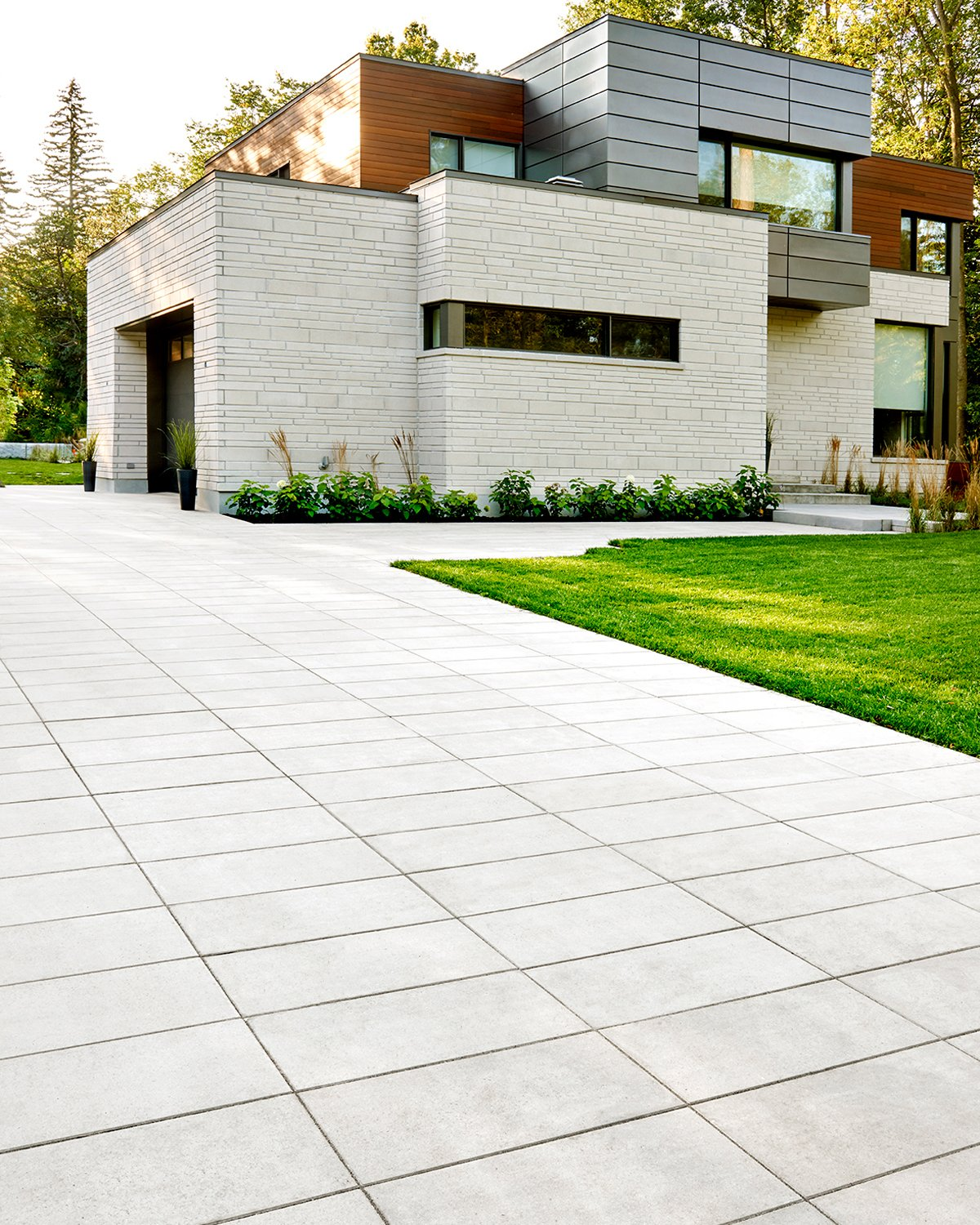 Our Sleek paver in a driveway application