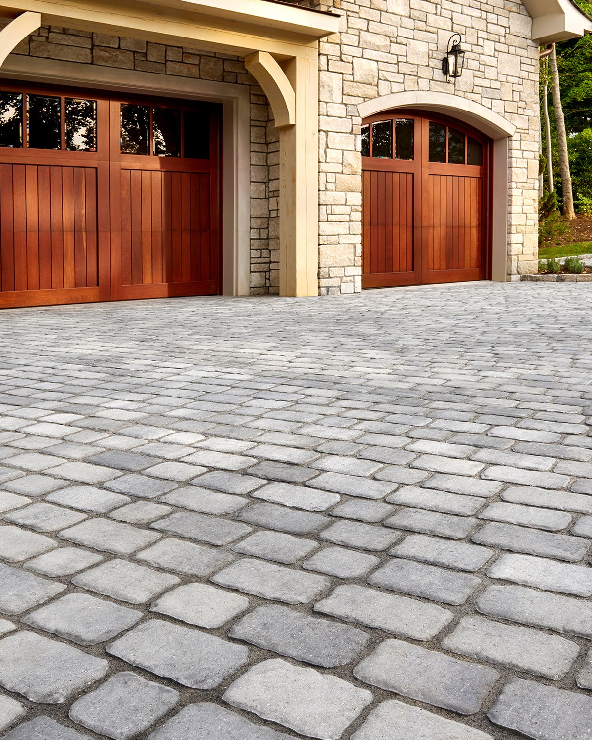 Our Villagio paver in a driveway application